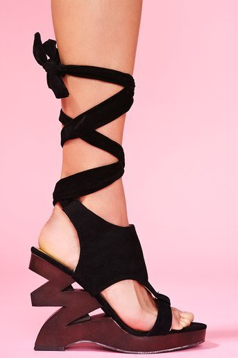 Zig Zag Platform Wedge in Shoes at Nasty Gal
