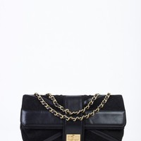 Chanel Black Suede Union Jack Shoulder Bag