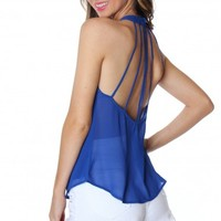 Fierce Royal Halter Top