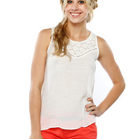 Papaya Clothing Online :: LACY SLEEVELESS TOP