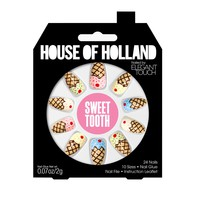 House of Holland Sweet Tooth Stiletto Nails | Cool As Ice Glue-On Stiletto Nails | Elegant Touch