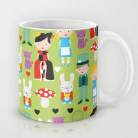 Alice in Wonderland Mug by i ♥ patterns | Society6