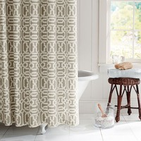 TERRI TRELLIS SHOWER CURTAIN