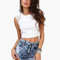Crochet Queen Crop Top