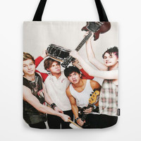 5sos on teen now Tote Bag by kikabarros