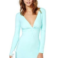 Nasty Gal Knot Over You Dress - Mint