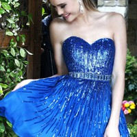 Beaded Waistband Dress by Sherri Hill