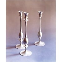 The Future Perfect - Biedermeier Candlestick Collection in Satin Silver
