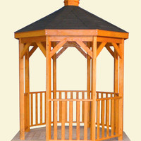 8 Foot Wood Gazebo - Custom Gazebo and Pavilion Kits | Amish Country Gazebos