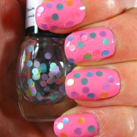 Gumdrops -Pastel Dot Glitter Topper ~Spring '14 Collection~ LIMITED EDITION