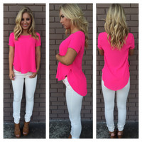 Hot Pink Cabaret Blouse