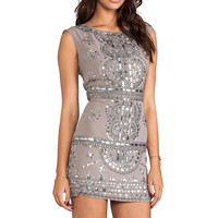 renzo + kai Cap Sleeve Laura Dress in Grey/Antique Silver from REVOLVEclothing.com