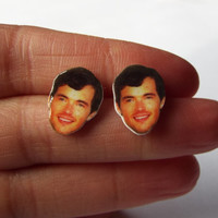 Ian Harding from Pretty Little Liars Earrings Celebrity Studs Funny Novelty Gift