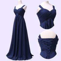 New STOCK Long Prom Bridesmaid Evening Party Cocktail Wedding Long Dress US 2-16