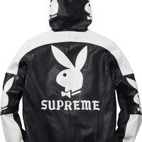 Supreme Supreme/Playboy® Hooded Leather Jacket