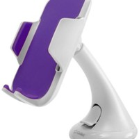 Cellet Universal Windshield Dashboard Car Phone Holder for Smartphones - White/Purple