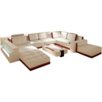 Large Contemporary Leather Sectional - Opulentitems.com