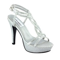 Silver prom shoes   Prom dresses   Prom shoes   Vivi by Dyeables 29613 Silver Platform Sandal   GownGarden.com