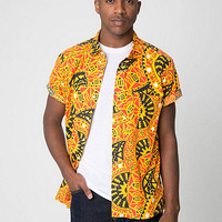 Tropical Short SleeveButton-Up with Pocket