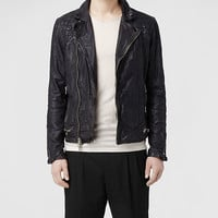 AllSaints Conroy Leather Biker Jacket | Mens Leather Jackets