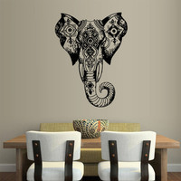 Wall Vinyl Sticker Decals Decor Art Bedroom Design Mural Ganesh Om Elephant Tattoo Head Mandala Tribal (z2440)