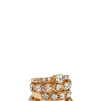 Glitzy Rhinestone Ring Set