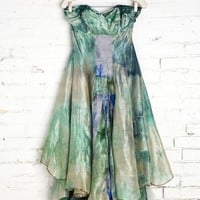 Rough And Tumble Vintage Seafoam Tie-Dye Dress - Urban Outfitters