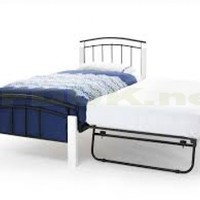 Serene Furnishing Tetras White Metal Guest Bed