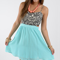 Sweet Heat Dress, Mint/Black
