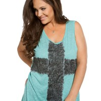 CROSS KEYHOLE GRAPHIC TANK