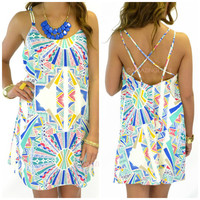 Starry Eyed Ivory Geometric Dress