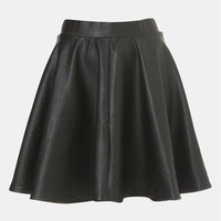 Topshop 'Andie' Faux Leather Skater Skirt | Nordstrom