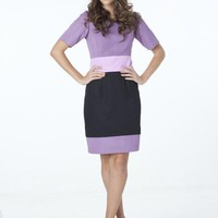 Violet Cotton Drill Dress
