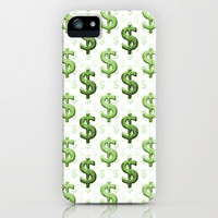 Dollar Sign Pattern iPhone & iPod Case by Danflcreativo