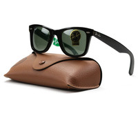 Ray Ban RB2140 Wayfarer Sunglasses Col. 1110 Tortoise Black with Limited Edition Green Ray-Ban Print
