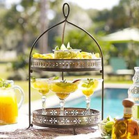 Margarita Entertaining 2-Tier Stand | Pottery Barn