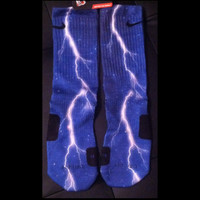 Blue Thunder Galaxy Full Coverage Authentic Nike Elites