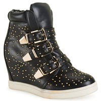 HENRY FERRERA® BUCKLE SNEAKER WEDGE