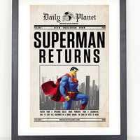 Superman Returns Newspaper Poster