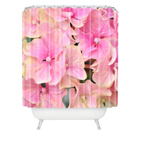 Lisa Argyropoulos Pink Hydrangeas Shower Curtain