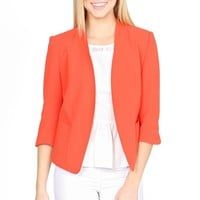 The Blood Orange is the New Black Blazer - Blazers & Vests - Clothing