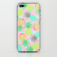 Pineapple Pandemonium Tropical Spring iPhone & iPod Skin by Lisa Argyropoulos | Society6