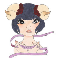 Aries Art Print by Kimberly Palmer | Society6