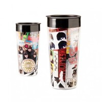 Beatles Albums 16 oz. Travel Mug
