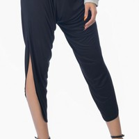 Black Drop Crotch Pant Leggings