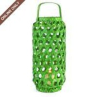 Kirkland&#x27;s: Green Woven Wood Lantern