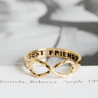 best friend infinity twist rings,best friends rings,infinity rings,infinity jewelry,twist ring,graduation rings,infinite rings,birthday gift