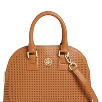Tory Burch 'Robinson' Perforated Leather Dome Satchel | Nordstrom