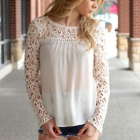 Hamptons Ivory Lace Top
