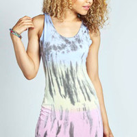 Leanne Rainbow Tie Dye Scoop Bodycon Dress
